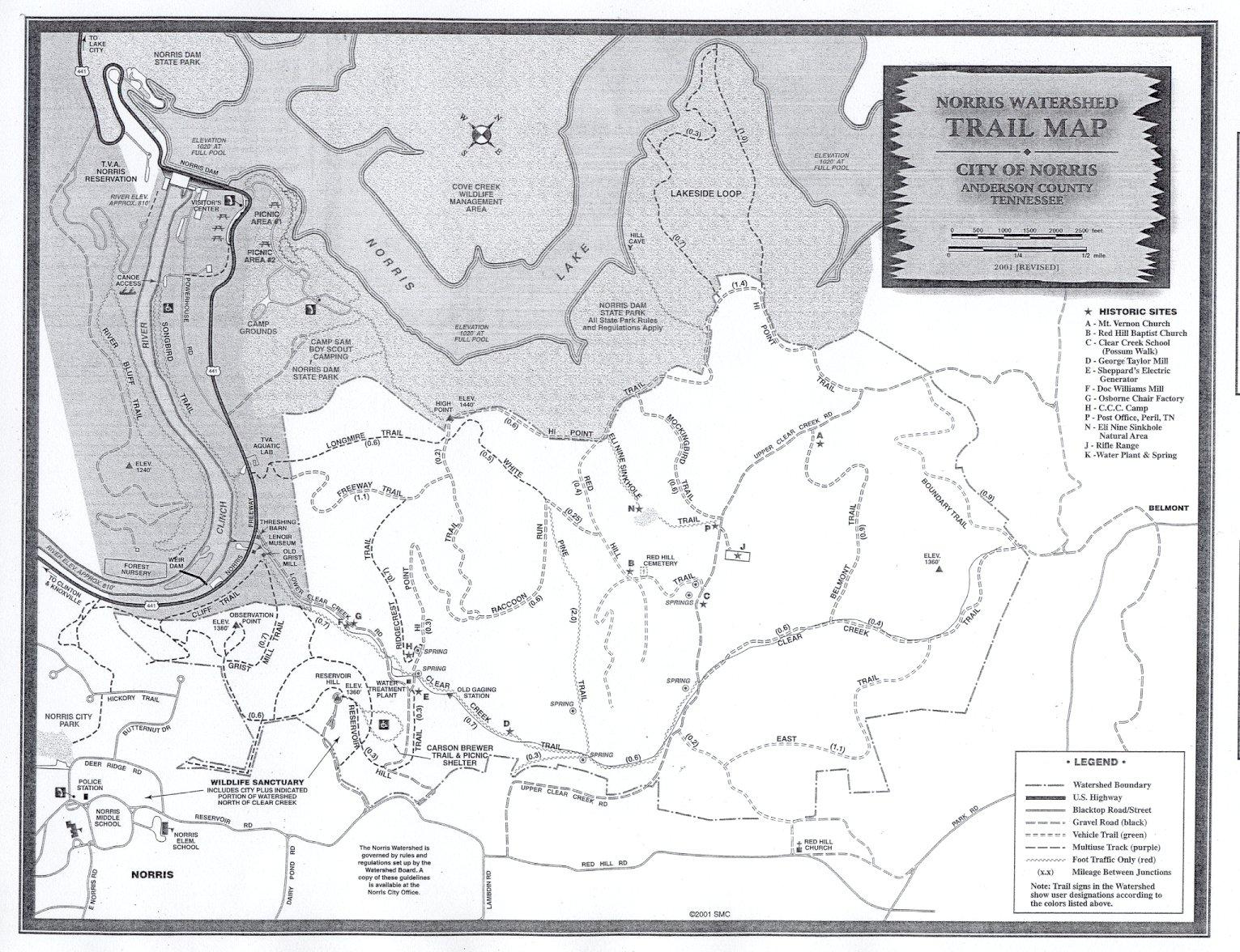 Norris Lake Tennessee Map.Norris