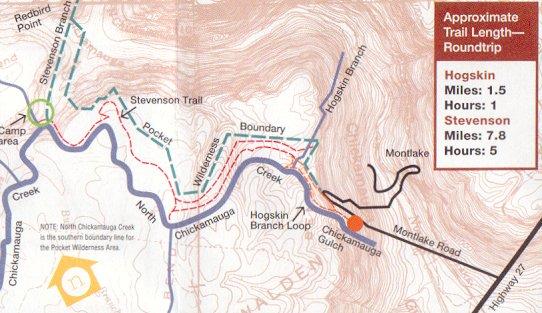 North Chickamauga - Chickamauga on us map